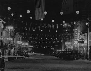 2nd Avenue at night 1942
